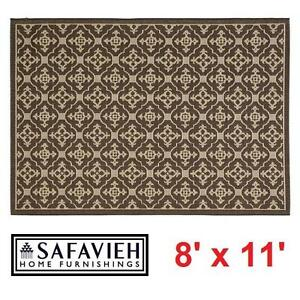 NEW* SAFAVIEH COURTYARD AREA RUG 8' x 11' ALASTAR CHOCOLATE INDOOR OUTDOOR RUGS CARPET CARPETS FLOORING DECOR MAT