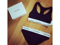 Ladies Calvin Klein bralette bra set. New with tags. Wholesale is available