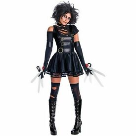 MISS SCISSORHANDS FANCY DRESS OUTFIT WITH WIG SIZE 12/14 GREAT FOR PARTY OR HEN DO MISSING CHOKER