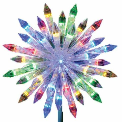 Christmas Tree Topper GE 37 LED Color Changing Choice Starburst Christmas