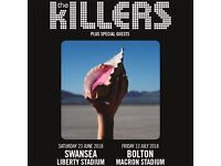 **FACE VALUE** 1x The Killers standing ticket, Macron Stadium Bolton, Friday 13th July 2018