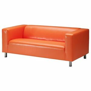 ORANGE IKEA KLIPPAN SOFA GOOD CONDITION $230 O.B.O.