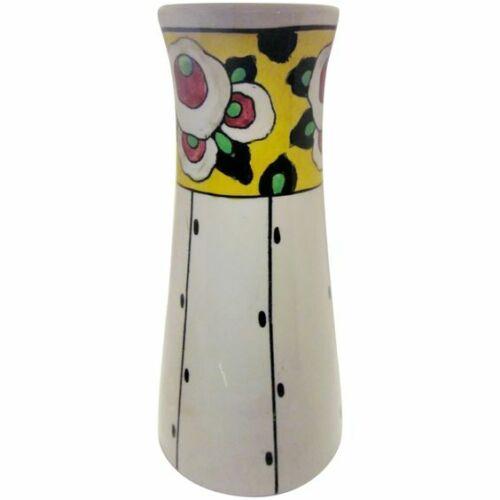 1920s Belgian Art Deco Boch Freres La Louvière Hand Painted Floral Ceramic Vase