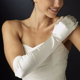 Wedding Prom Party Gloves Ivory Long (Worn Once)