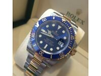Rolex Submariner Blue and Gold