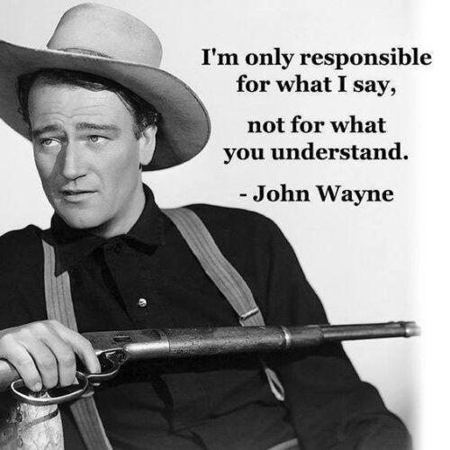 "John Wayne Quote refrigerator magnet 3 ""X 3  """