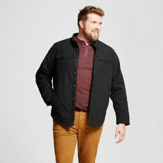 Goodfellow & Co Men's Tall Quilted Shirt Jacket – Medium Tall Clothing, Shoes & Accessories