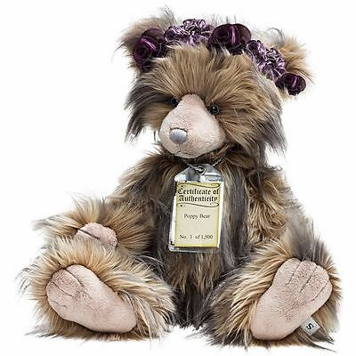 Charlie Bears Collectable Bear - RARE SILVER TAG - Poppy Limited Edition
