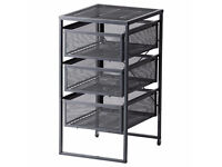Ikea LENNART metal drawer unit - Grey - Assembled