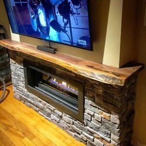 Live Edge Wood Mantels - Renovate with Canadian BC Wood Products