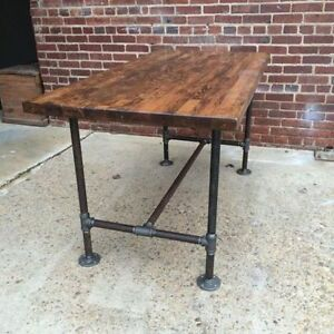 Industrial Style Pipe Leg Table