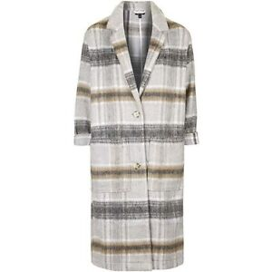 moving sale! brand new topshop Checked Wool-Blend Duster