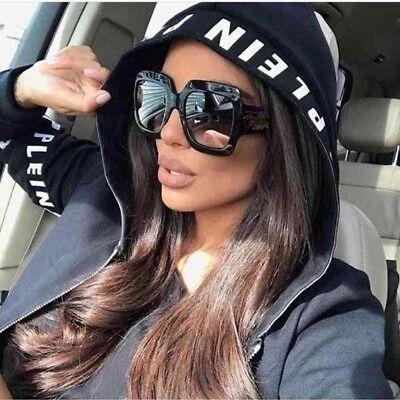 VINTAGE RETRO OVERSIZED XL Jackie Women Sunglasses SQUARE Flat Square (Jackie Vintage Sunglasses)