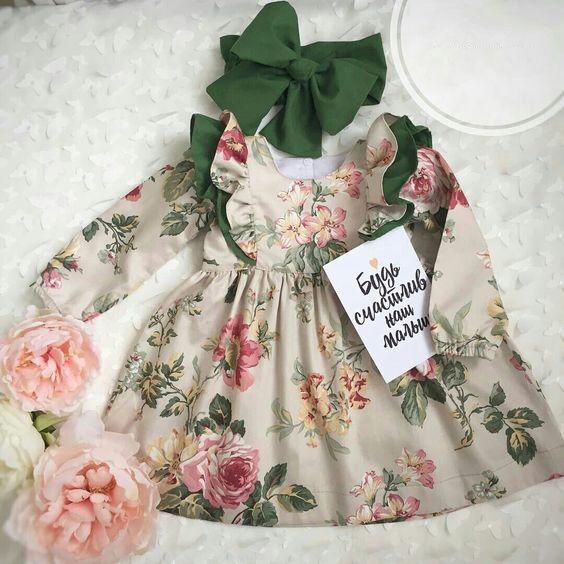 Cute Toddler Kids Baby Girls Flower Summer Party Dress Sundress Clothes 0-5T