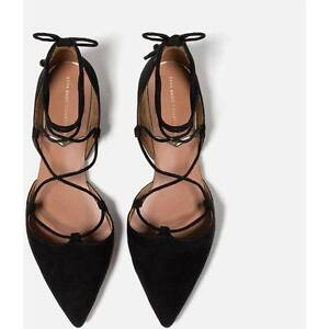 Zara Flat Lace-Up D'orsay Shoes size 6.5/37 NEGOTIABLE