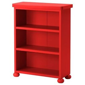 Bright Red Book Case