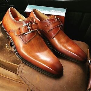 Shoes that make you money: Magnanni monk straps brown or grey
