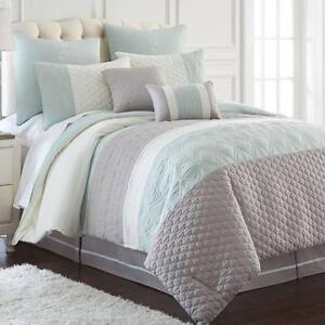 Palisades 8 Piece Comforter Set QUEEN&KING NEW