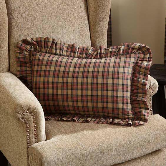 VHC Brands Primitive Bedding Cinnamon Cotton Plaid Rectangle