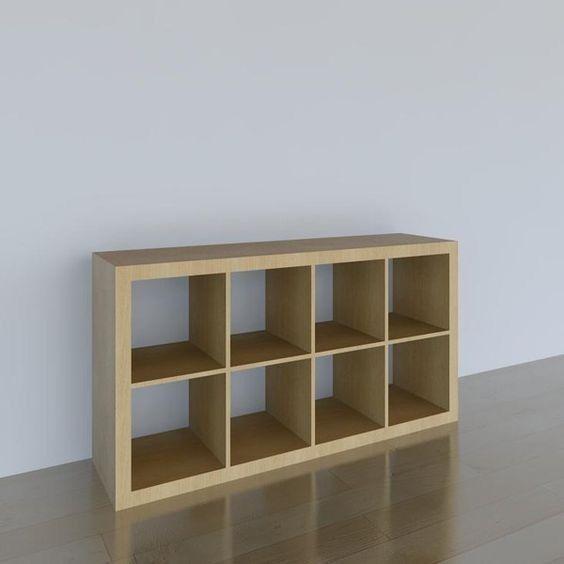 IKEA Expedit (not Kallax) Birch Shelving Unit, 2 X 4 (8