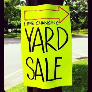 LARGE 5 Family Yard Sale