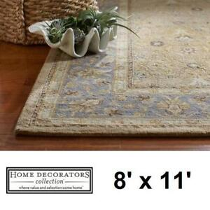 NEW* MENTON GOLD 8' x 11' AREA RUG 8768120910 141481562 HOME DECORATORS CARPET CARPETS FLOORING DECOR ACCENTS MAT MAT...