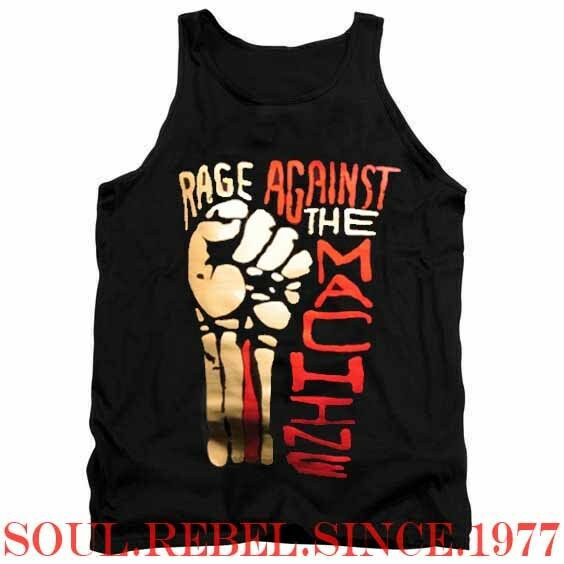 RAGE AGAINST THE MACHINE PUNK ROCK BAND TANK TOP T SHIRT MEN'S SIZES