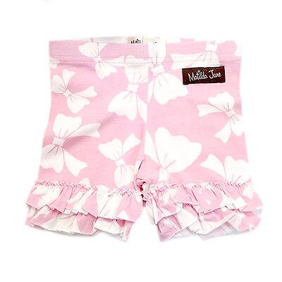NWOT Matilda Jane Good Hart Sugar Pie Pink Bow Ruffled Shorties Shorts 2