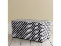 Gorgeous Hand Painted Storage Box in Black & White from Loaf