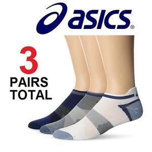 NEW ASICS 3-PACK SOCKS WOMEN'S SM QUICK LYTE - INDIGO BLUE ASSORTED - PACK OF 3 102022180