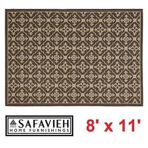 NEW* SAFAVIEH COURTYARD AREA RUG - 108188006 - 8' x 11' ALASTAR CHOCOLATE INDOOR OUTDOOR RUGS CARPET CARPETS FLOORING...