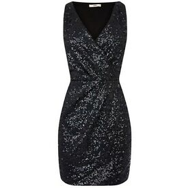 Oasis black sequin dress