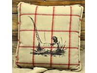 Half Price Luxury Country Style Cream 45 x 45cm Country Flying Pheasant Cushion