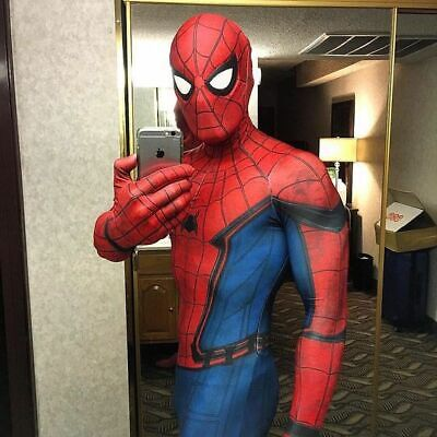 Adult Spider-Man:Homecoming Halloween Cosplay Costume 3D print Superhero Movie](Adult Blue Movies)