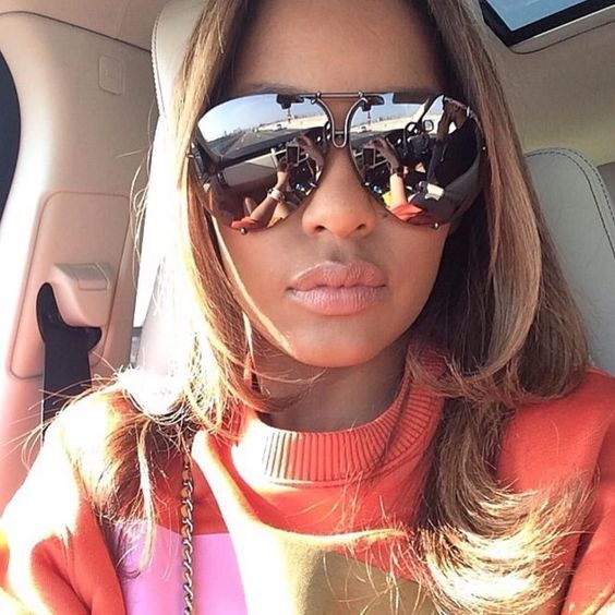 """Porshe"" OVERSIZED Women Sunglasses Aviator Flat Top PILOT G"
