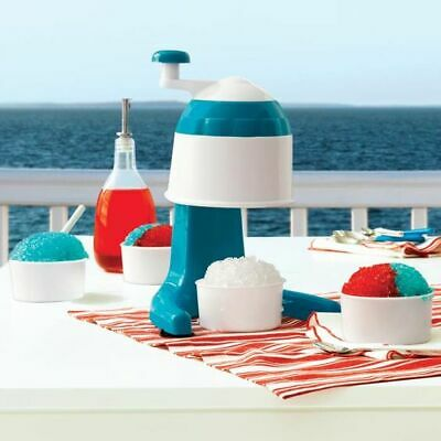 Summertime Snow Cone Snowball Maker 4 Plastic Cups - Tabletop Ice Crusher