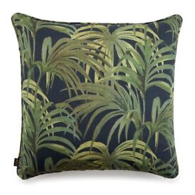 2 CUSHION CASES HOUSE OF HACKNEY PALMERAL MEDIUM LINEN MIDNIGHT / GREEN (retail price per piece £90)