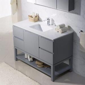 "48"" Ice Grey Bathroom Vanity- Complete"