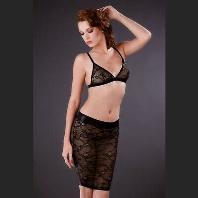 Maison Close FLEUR DE PEAU Sexy Lace Skirt/Jupe/Jurk - Medium - Black