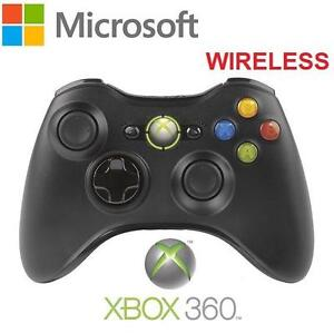 NEW OB XBOX 360 WIRELESS CONTROLLER MICROSOFT - BLACK - VIDEO GAME ACCESSORIES 99709081