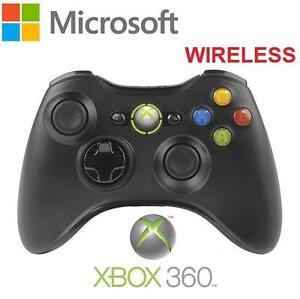 NEW OB XBOX 360 WIRELESS CONTROLLER - 99709081 - MICROSOFT - BLACK - VIDEO GAME ACCESSORIES