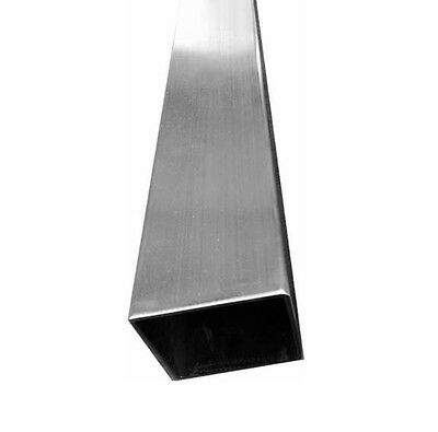 T316 Stainless Steel Square Tube Post 2 X 2 X 24 Railing Intermediate Tubing