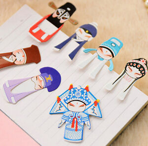 CB101 New Creative Chinese Classical Style Mini Peking Opera Bookmark 1 Set 7pcs