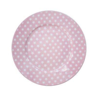 Hp Sterne (Kuchenteller Dessert plate stars pink rosa Sterne HP2014 Krasilnikoff )
