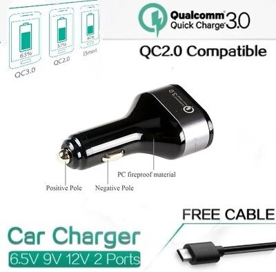 36W Hi Quality Qualcomm Qc3 0 Certified Quick Charge With Micro Usb 1M Cable