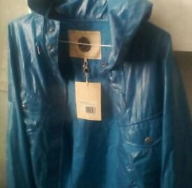 Pretty green blue hooded jacket , liam gallagher , new tagged