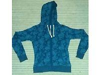 Blue zip hoodie (size 14)