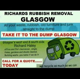 Richards Rubbish Removal. sofas, furniture, beds, house, Garden clearance, junk uplift. skip hire