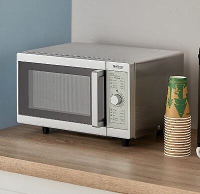Galaxy 1000 Watt Commercial Office Microwave Oven With Countertop Dial Controls