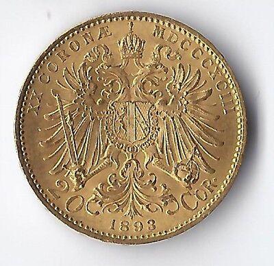 20 Kronen Österreich Gold 1892-1915 - Verschiedene Jahrgänge - Goldmünze 900